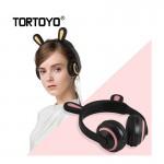 Ασύρματα Ακουστικά με Bluetooth & Φωτισμό - Led Wireless Rabbit Ear Headphones