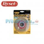 Συρματόβουρτσα Στρογγυλή Ατσάλινη Δίδυμων Τροχών Liyset 100x25x22.2mm