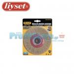 Συρματόβουρτσα Στρογγυλή Ατσάλινη Δίδυμων Τροχών Liyset 125x25x22.2mm