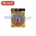 Συρματόβουρτσα Στρογγυλή Ατσάλινη Δίδυμων Τροχών Liyset 150x25x22.2mm
