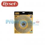 Συρματόβουρτσα Στρογγυλή Ατσάλινη Δίδυμων Τροχών Liyset 175x25x22.2mm