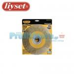 Συρματόβουρτσα Στρογγυλή Ατσάλινη Δίδυμων Τροχών Liyset 200x25x22.2mm