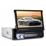 Αναδιπλούμενη Multimedia Οθόνη Αφής Αυτοκινήτου 1 DIN 7inc Bluetooth Handsfree MP4/MP3/USB/SD/AUX/MIC/TV Ηχοσύστημα με Τηλεχειριστήριο & Ελληνικό Menu