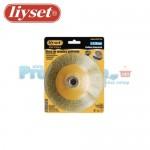 Συρματόβουρτσα Κωνική Ατσάλινη Γωνιακών Τροχών Liyset 120mm