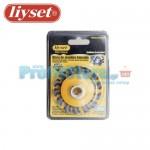 Συρματόβουρτσα Στρογγυλή Ατσάλινη Στριφτή Γωνιακών Τροχών Liyset 75mm
