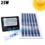 Αδιάβροχος Ηλιακός Προβολέας 25W με Φωτοβολταϊκό Πάνελ, Τηλεκοντρόλ, Χρονοδιακόπτη & LED Οθόνη Μπαταρίας - Solar Panel