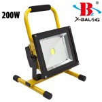 Ισχυρός Επαναφορτιζόμενος Φορητός Προβολέας COB LED Απόδοσης 200Watt - X-Balong