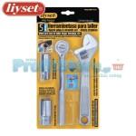 Γαλλικό Κλειδί και Καστάνια Liyset - Σετ 5 Τεμαχίων