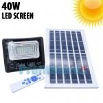 Αδιάβροχος Ηλιακός Προβολέας 40W με Φωτοβολταϊκό Πάνελ, Τηλεκοντρόλ, Χρονοδιακόπτη & LED Screen Μπαταρίας  - Solar Panel