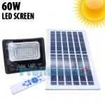 Αδιάβροχος Ηλιακός Προβολέας 60W με Φωτοβολταϊκό Πάνελ, Τηλεκοντρόλ, Χρονοδιακόπτη & LED Οθόνη Μπαταρίας  - Solar Panel