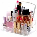 Διάφανη Θήκη Καλλυντικών - Κοσμημάτων με Καθρέφτη - Cosmetic Mirror Makeup Organizer