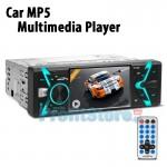"""Multimedia Ενισχυτής Οθόνη Αυτοκινήτου 3,9"""" TFT 1 Din Bluetooth Handsfree MP5, MP4, MP3, USB, SD, FM, AUX με Τηλεχειριστήριο 4x50W Ηχοσύστημα"""