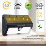Ηλιακό Επιτοίχιο Φωτιστικό - Προβολέας Τοίχου 170ᵒ Μοιρών LED με Ανιχνευτή Κίνησης, Αισθητήρα Νυκτός, Φωτοκύτταρο & 3 Λειτουργίες Φωτισμού Solar Panel