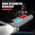 Αδιάβροχη Κόρνα Σειρήνα 150dB - Φώτα Πορείας LED με LCD Οθόνη & Χρονόμετρο, Μετρητής Ταχύτητας & Απόστασης Ποδηλάτου με Πολλές Λειτουργίες