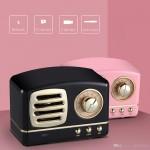 Δυνατό Φορητό Επαναφορτιζόμενο Ρετρό Ραδιόφωνο Bluetooth/ USB/ SD/ AUX - Mini BT Speaker