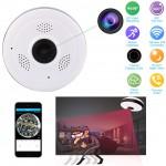 Ασύρματη Κάμερα Οροφής IP Wifi με Ευρυγώνιο Φακό Fish Eye HD 920p Πανοραμικής Θέασης, Αισθητήρα Κίνησης, Ειδοποιήσεις, Baby Monitor Μικρόφωνο & Ηχείο