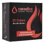 Καρβουνάκια Ναργιλέ Κύβος - 32τμχ Cocodice