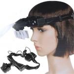 Διπλός Μεγεθυντικός Φακός Κεφαλής με Φωτισμό LED 1.0x / 1.5x / 2.0x / 2.5x / 3.0 x / 3.5x / 4.0x / 5.0x / 8.0x & 20.0x - LED Head Wearing Magnifier