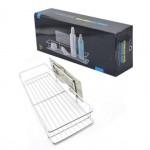 Αυτοκόλλητο Ράφι Αποθήκευσης για Μπάνιο από Ανοξείδωτο Ατσάλι - Stainless Steel Storage Rack for Bathroom