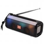 Φορητό Ασύρματο Ηχείο Bluetooth με LED Φωτισμό & FM Ραδιόφωνο - Ηχοσύστημα Multimedia Player Radio Μάυρο