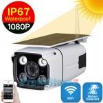 Ηλιακή Αδιάβροχη Ασύρματη IP WiFi Κάμερα Full HD 1080p P2P με Νυχτερινή Λήψη, Ανιχνευτή Κίνησης, Ειδοποίηση στο Κινητό, Μικρόφωνο, Ηχείο, & Micro SD