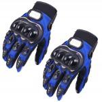 Γάντια Αναβάτη Μηχανής / Μοτοσυκλέτας με Προστασία στις Αρθρώσεις - Σετ 2 Τεμαχίων Μπλε