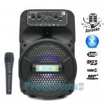 Φορητό Αυτοενισχυόμενο Ηχείο - Ηχοσύστημα 30W LED Bluetooth USB/SD/FM/AUX/MIC Karaoke Mp3 Player με Μικρόφωνο - Multimedia Speaker με Τηλεχειριστήριο