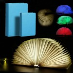 Επαναφορτιζόμενο Φωτιστικό 22cm - Βιβλίο RGB LED USB - Colorful Decoration Book