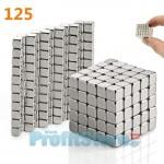Πανίσχυροι Μαγνητικοί Κύβοι Σετ 125 Τεμαχίων για Ατελείωτες Ώρες Καλλιτεχνικής Δημιουργίας - Fidget Magnetic Cubes