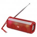 Φορητό Ασύρματο Ηχείο Bluetooth με LED Φωτισμό & FM Ραδιόφωνο - Ηχοσύστημα Multimedia Player Radio Κόκκινο
