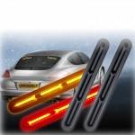Αδιάβροχα Οπίσθια Φώτα Φλας & Φρένο Αυτοκινήτου 120 LED 12V - Multifunction Car Tail Lights Flash & Brake - Σετ 2 Τμχ