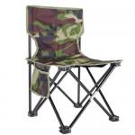 Αναδιπλούμενη Καρέκλα Σκαμπό Ψαρέματος - Κυνηγίου με Τσέπη Παραλλαγής / Camo - Outdoor Portable Folding Fishing Chair