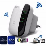 Ενισχυτής WiFi Repeater Πρίζας 300Mbps 802.11- Wifi Repeater Wireless-N AP Range Signal Extender Booster