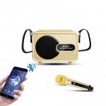 Φορητό Μίνι Ηχοσύστημα Bluetooth USB/SD Karaoke Με Μικρόφωνο Mp3 Player - Multimedia Speaker  SD-502