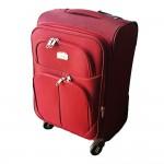 Βαλίτσα Καμπίνας Μαλακή με 4 Ροδάκια, Τηλεσκοπική Λαβή & Κλείδωμα Ασφαλείας - Cabin Size s50 ORMI Red