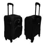 Βαλίτσα Καμπίνας Μαλακή με 4 Ροδάκια, Τηλεσκοπική Λαβή & Κλείδωμα Ασφαλείας - Cabin Size s50 ORMI Black