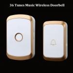 Σετ Ασύρματο Κουδούνι Πόρτας με 36 Μελωδίες, LED Φωτισμό, Μακράς Εμβέλειας - Wireless Digital Doorbell