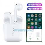 Ασύρματα Ακουστικά Αφής Bluetooth 5.0 με Αυτόματη Σύνδεση Pop-up στο Κινητό, Ασύρματη Φόρτιση, Μικρόφωνο - Handsfree Earphones χωρίς Καλώδιο