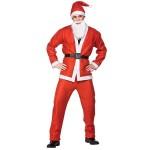 Χριστουγεννιάτικη Στολή Ενηλίκων Άγιος Βασίλης - Πλήρες Σετ με Τζάκετ, Παντελόνι, Σκούφο, Μούσια, Ζώνη - Santa Claus Costume
