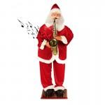 Μουσικός Άγιος Βασίλης που Χορεύει & Παίζει Σαξόφωνο 120cm με Αισθητήρα Κίνησης
