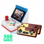 Ρετρό Παιχνιδομηχανή με 500 Παιχνίδια, 2 Τηλεχειριστήρια, Οθόνη & Joystick - Έξοδο AV για TV - USB Κονσόλα Entertainment System Games OEM