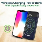 Φορητός Ασύρματος Φορτιστής - Power Bank Awei LCD Screen, USB/Micro USB, Port/Wireless Charging 10000mAh P71K