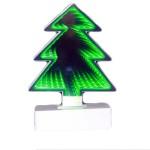 Διακοσμητικό Infinity Led 3D Χριστουγεννιάτικο Ελατο  20cm