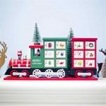 Ξύλινο Χριστουγεννιάτικο Διακοσμητικό Τρενάκι με Συρταράκια - Christmas Decorative Train