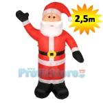 Νέος Φουσκωτός Άγιος Βασίλης Γίγας 2,5m - Χριστουγεννιάτικος Διακοσμητικός Άη Βασίλης