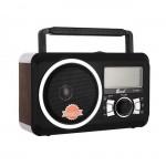 Ασύρματο Retro Ηχείο Bluetooth Ραδιόφωνο με Ψηφιακή LCD Οθόνη, Ρολόι, USB, Mini SD/SD, FM Radio, Είσοδος Mic & Phones