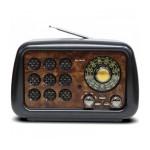Επαναφορτιζόμενο Ρετρό Ραδιόφωνο Fm/ Am/ Sw 3Band/ Bluetooth/ USB/ Tf card - Multimedia Radio Player
