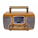 Ρετρό Επαναφορτιζόμενο Φορητό Ραδιόφωνο Bluetooth USB/SD και MP3 Player - Multimedia Radio Player
