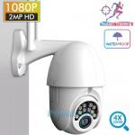 Αδιάβροχη Ασύρματη IP WiFi Κάμερα FHD 1080p με Νυχτερινή Λήψη, Tracking Ανιχνευτή Κίνησης, Ειδοποίηση στο Κινητό, Mic, Ηχείο (Ενδοεπικοινωνία Μωρού)
