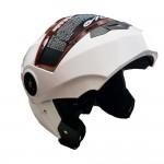 Λευκό Κράνος Μηχανής Full Face Flip Up Anti-Fog AD-106